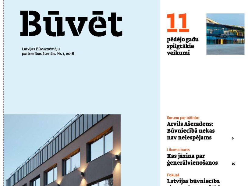 """Image for Latvijas Būvuzņēmēju partnerības žurnāls """"Būvēt"""" Nr.1"""
