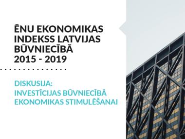 """Image for Prezentēs pētījuma """"Ēnu ekonomikas indekss Latvijas būvniecībā 2015 – 2019"""" rezultātus"""