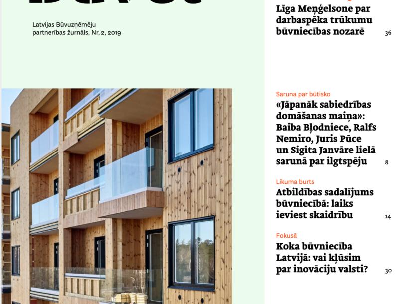 """Image for Latvijas Būvuzņēmēju partnerības žurnāls """"Būvēt"""" Nr.2"""
